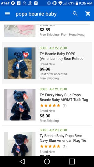 fbf14bf3b9f 2001 TY Jeannie baby pops (USA tie) great condition for Sale in Eugene
