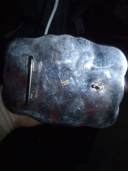 Silver rodeo belt buckle Thumbnail