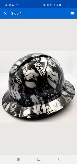 Photo Hard Hat Full Brim STORMTROOPERS Custom hydro dipped full brim DEATH STAR NEW
