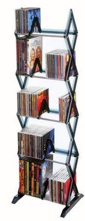 Atlantic Mitsu 130 CD/90 DVD/BluRay/Games 5-Tier Media Rack (Smoke) for Sale in Detroit, MI