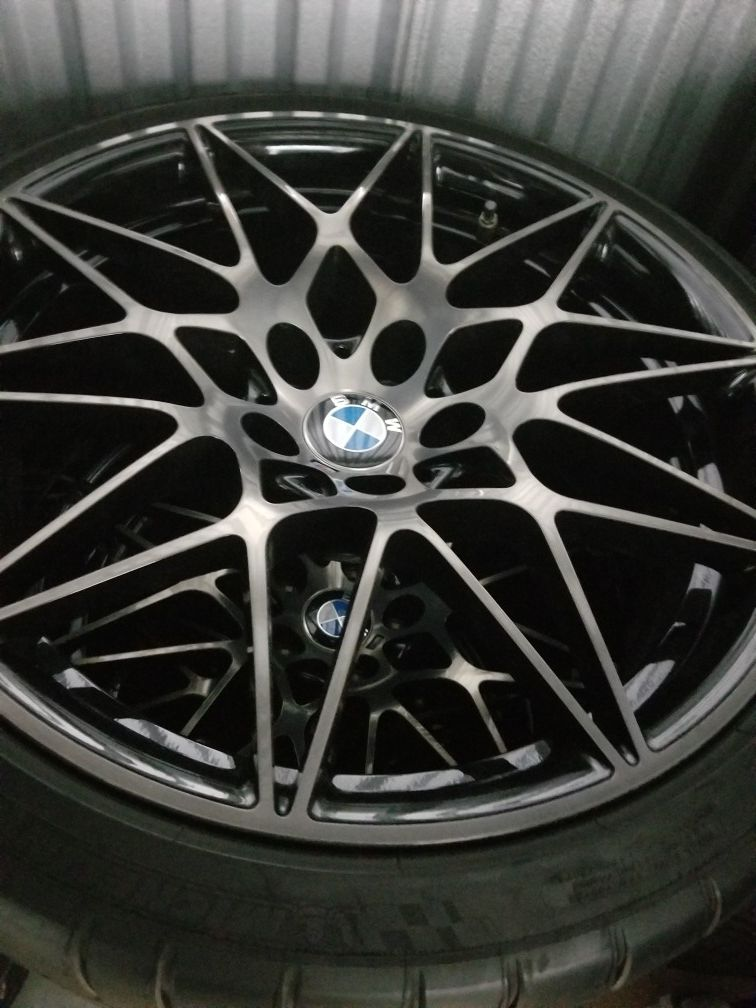 Style 666m bmw rims and tires