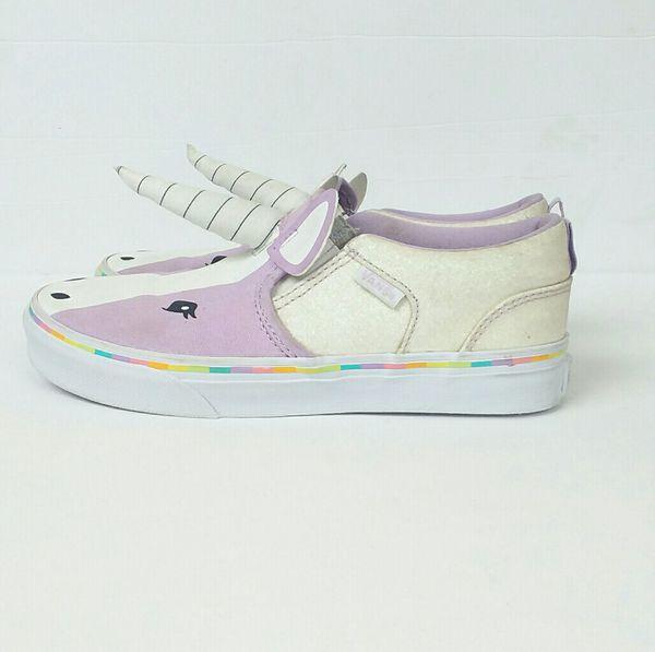 500e5fab69 VANS Kids Asher Unicorn Shoes Sz 3 for Sale in Bowie