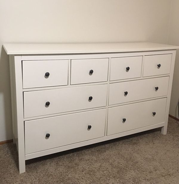 White Stain Ikea Hemnes 8 Drawer