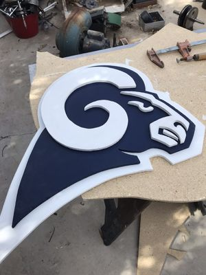 Rams logo lawn sign. 3feet x 2feet. Comes with lawn spikes attached. for Sale in Las Vegas, NV
