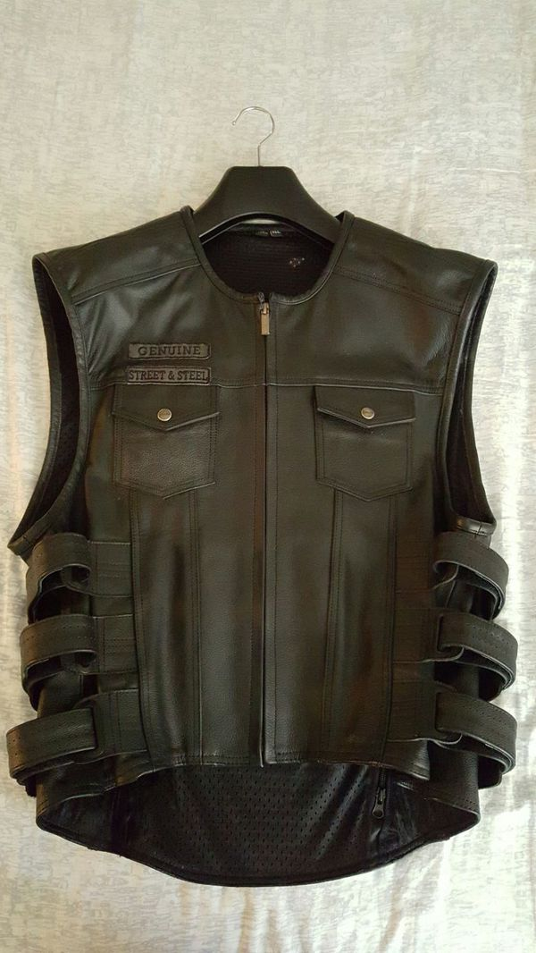 Street /& Steel Anarchy Leather Vest