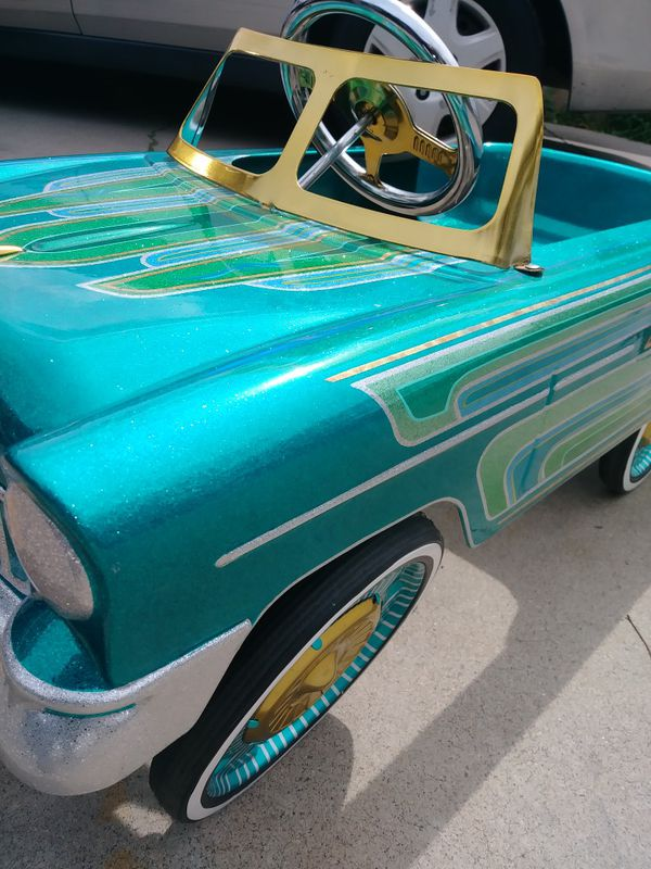 Lowrider Pedal Car Chevy Kandy Paint Patterns Flake Pinstripe Gold Leaf