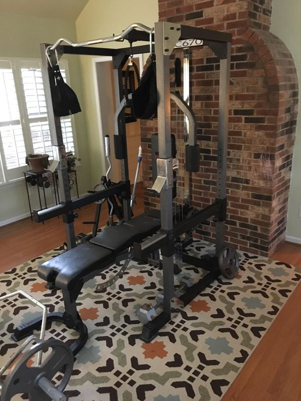 Weider Club C670 Squat Rack Free Weight Cage Bench Accessories For Sale In Charlotte Nc