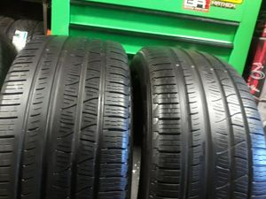 Photo 2 two used tires PIRELLI SCORPION VERDE ALL SEASON. SIZE 275/45/20