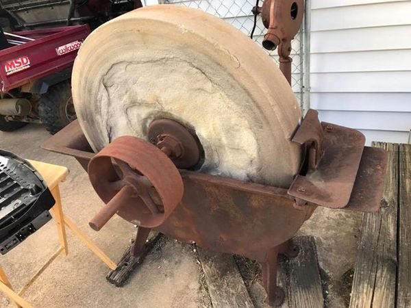 Antique Grinding Stone Sharpening Wheel For Sale In Dallas