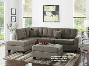 Coffee Couch Sofa Sectional With Ottoman for Sale in Los Angeles, CA