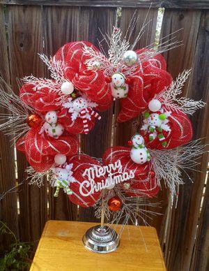 Snowmen wreath stand for Sale in Austin, TX