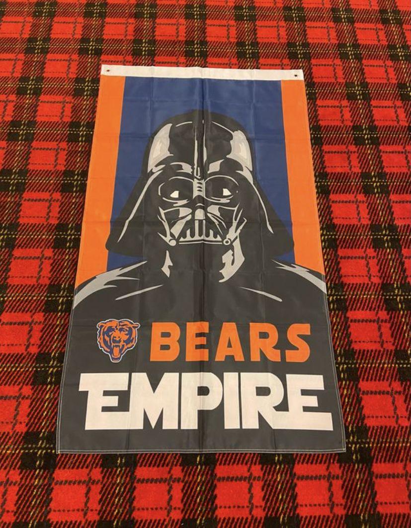 Brand New Chicago Bears Banner Flag #)$8733