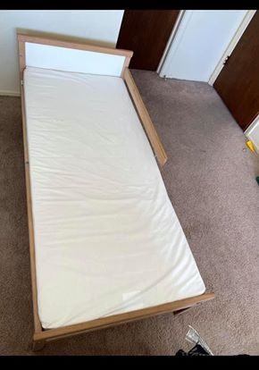 Photo Ikea kids bed with mattress......49$ move out sale...