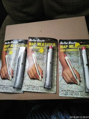 3 map measurer and compass 3.00 each for Sale in Bakersfield, CA