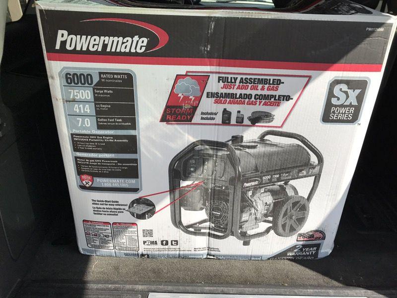 Brand new 7500 watt peak generator