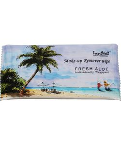 TRAVELWELL - 100 Fresh Aloe Individually Wrapped Makeup Remover Cleansing Travel Wipes Thumbnail