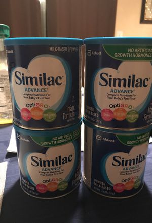 Similac Advance 4 cans of 12.4 oz each for Sale in Gaithersburg, MD