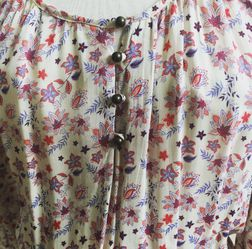 Forever 21 Size M Floral Dress 3/4 Sleeve Thumbnail