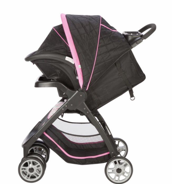 Disney baby amble quad travel system Minnie garden delight set