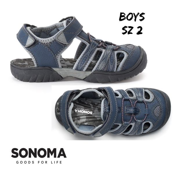 97802db803eee NIB Boys Sonoma Navy Wander Sandal Sz2 S for Sale in WDM