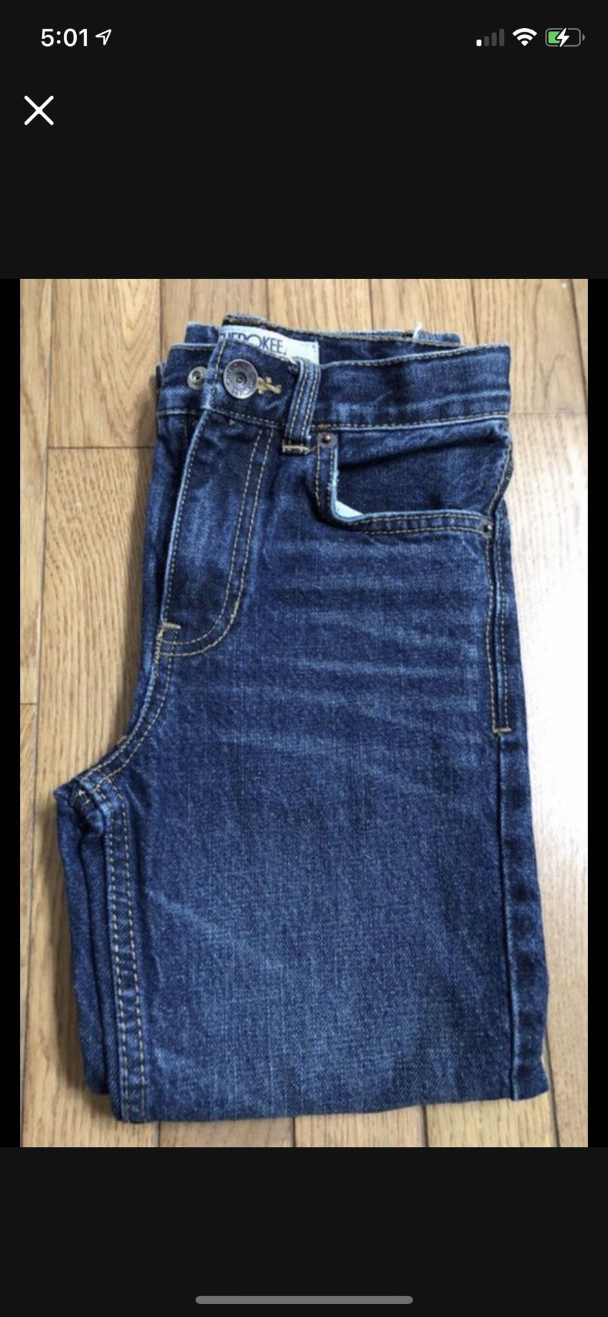 Boy Size 6 Jeans Smoke And Pet Free