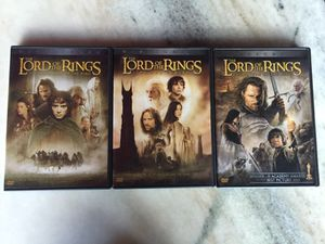Lord of the rings dvds for Sale in Tampa, FL