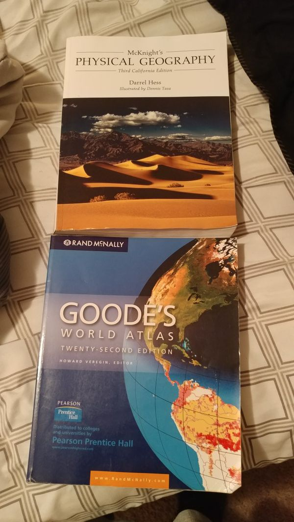 Geography book and Goode's Worlds Atlas for Sale in Menifee, CA - OfferUp