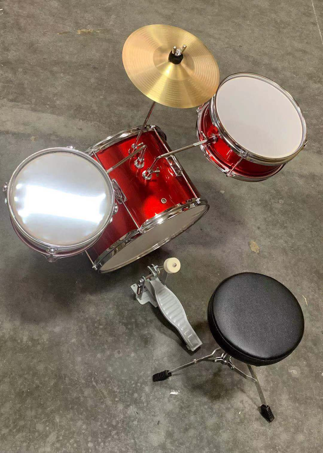 NEW IN BOX Berry 13 Inch Bass Drum Junior Real Drum Set with Throne Cymbal Pedal and Wooden Drumsticks