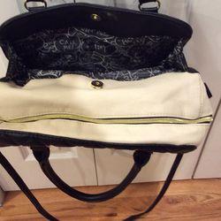 Betsy Johnson Quilted Hearts Handbag Shoulder Bag Thumbnail
