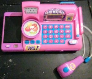 Kids battery operated cash register, used for sale  Tulsa, OK