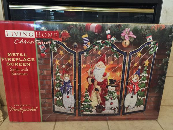 Christmas Fireplace Screen.Christmas Fireplace Screen Metal New 49x33 Pending Pickup Friday For Sale In Corinth Tx Offerup