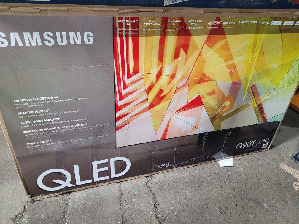"""65"""" 4k Qn65q90t Samsung Smart Apps Led Tv"""