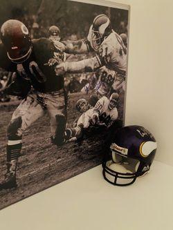 Carl Eller Minnesota Vikings Autographed Mini Helmet w Inscrip / Cert of Auth WOW !! Thumbnail
