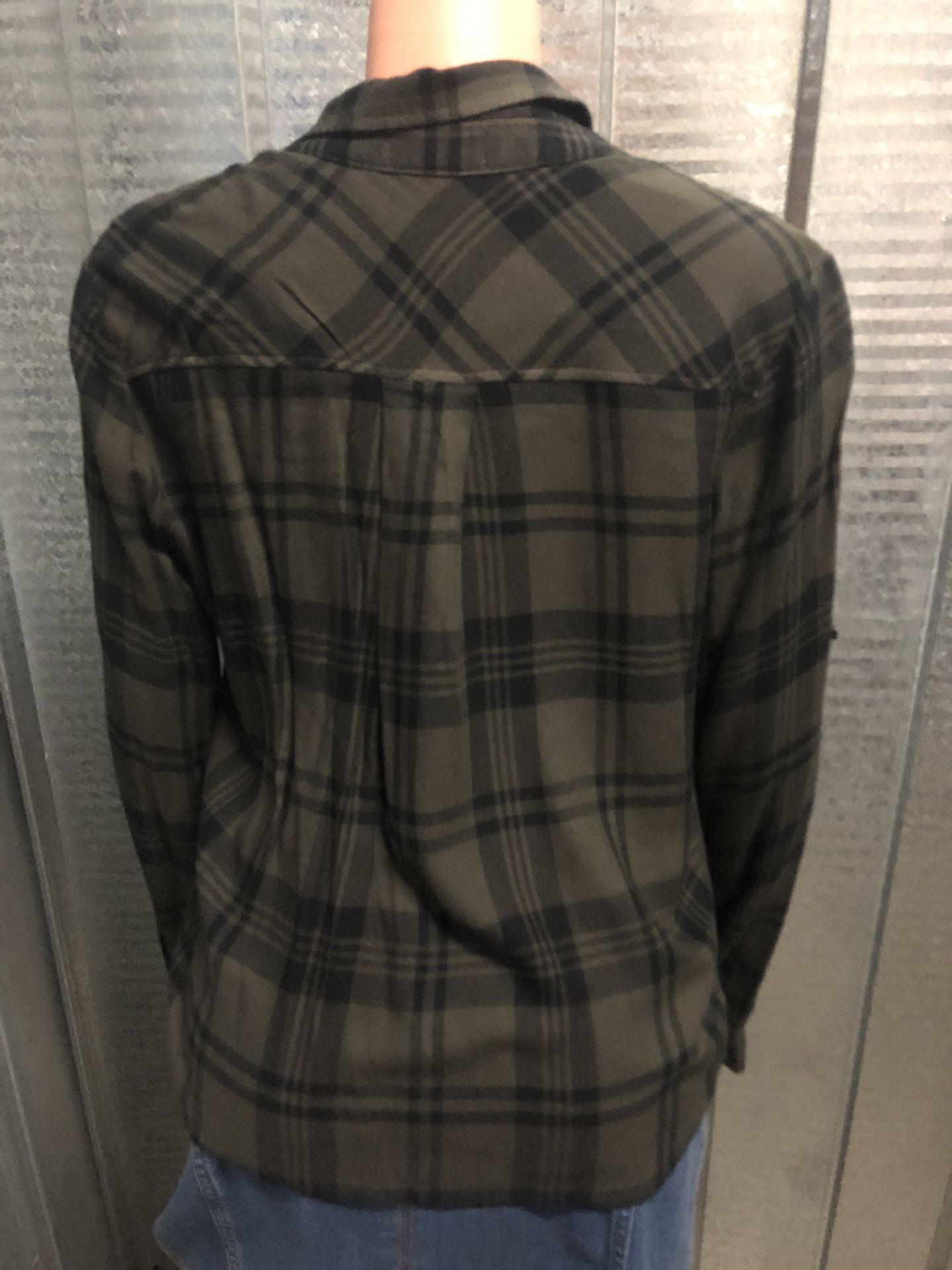 Olive/black Flannel Shirt