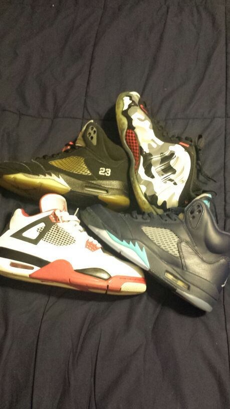 reputable site ef915 a2cd7 Metallic 5s ,fighter jet foams, hornet 5s ,fire red 4s for Sale in Houston,  TX - OfferUp