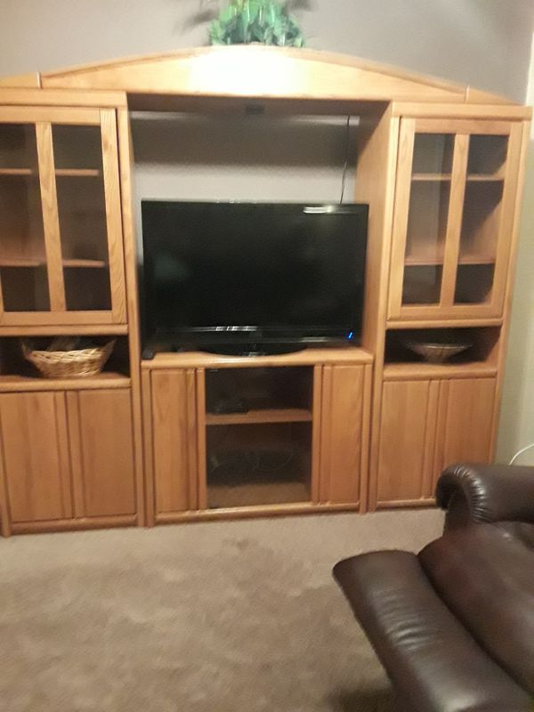 Entertainment Center In Excellent Condition With Light Height 6 Foot 8 Length 7 Ft Width 1 Ininch For Mesa Az Offerup
