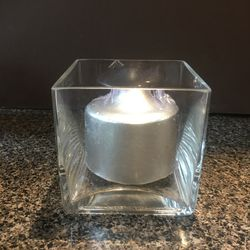 """20 NEW 2.5"""" x 3"""" silver candles for wedding or party Thumbnail"""