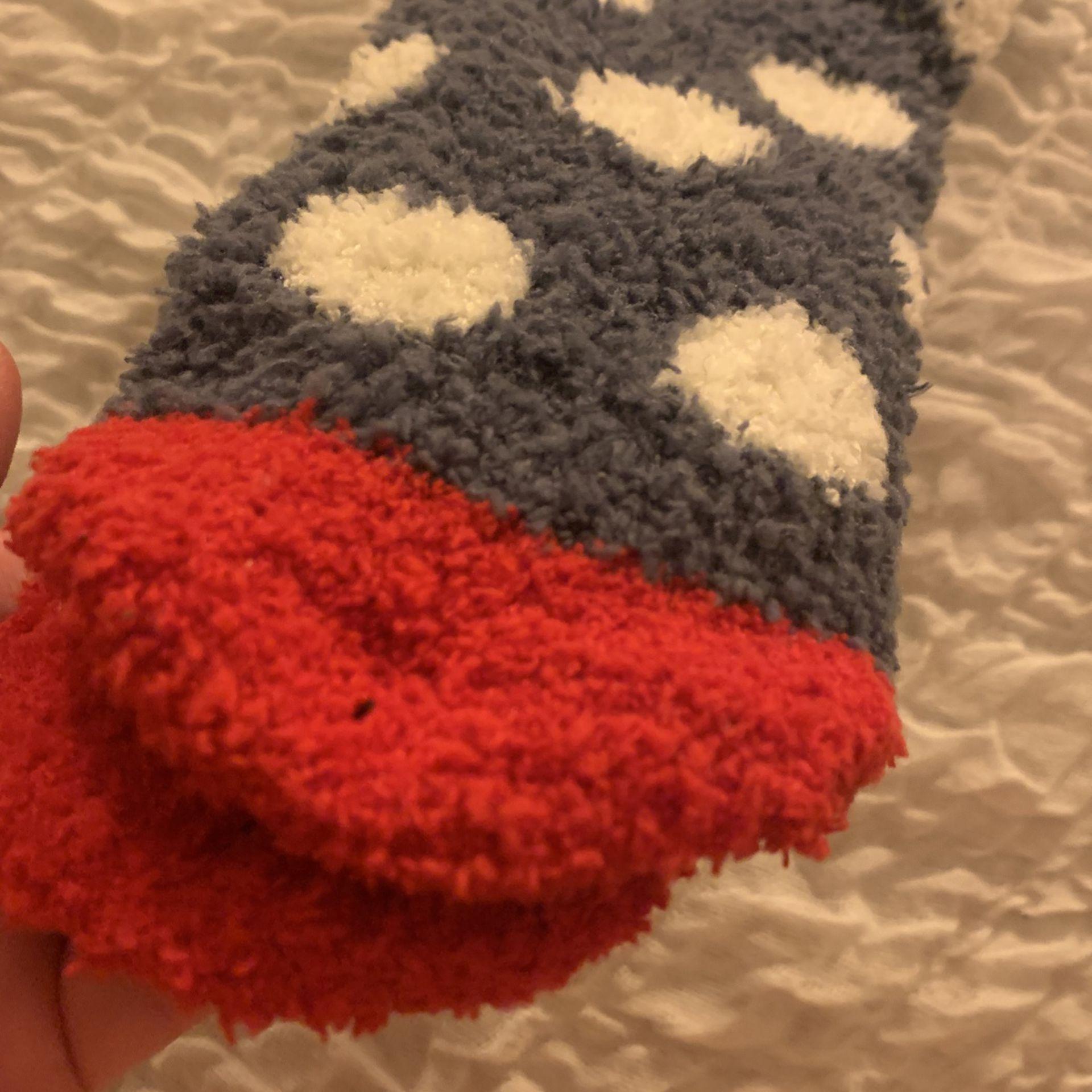 Cozy Fluffy Socks - Doggy/ Boston Terrier