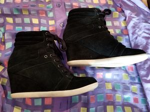 Womens black wedge shose.size:7.5M for Sale in Martinsburg, WV
