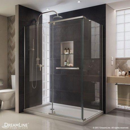 DreamLine 36 x 48 x 72 inch Frameless Shower Enclosure with Shower Base