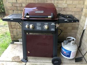 Grill with propane tank and cover for Sale in Bethesda, MD