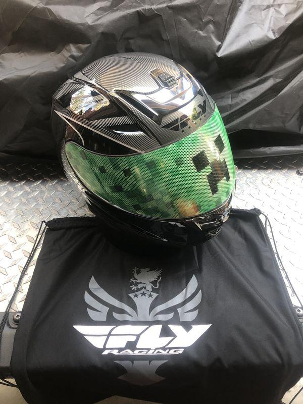 Motorcycle go kart custom Minecraft Creeper helmet XS for Sale in Costa  Mesa, CA - OfferUp