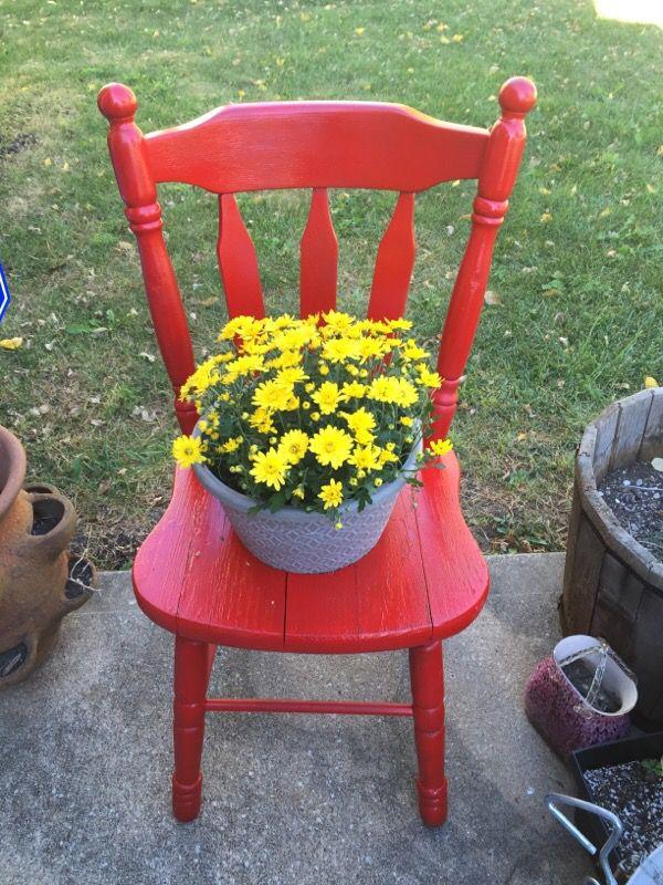Flower pot chair