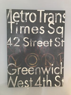 NYC Subway Art on Canvas for Sale in San Francisco, CA