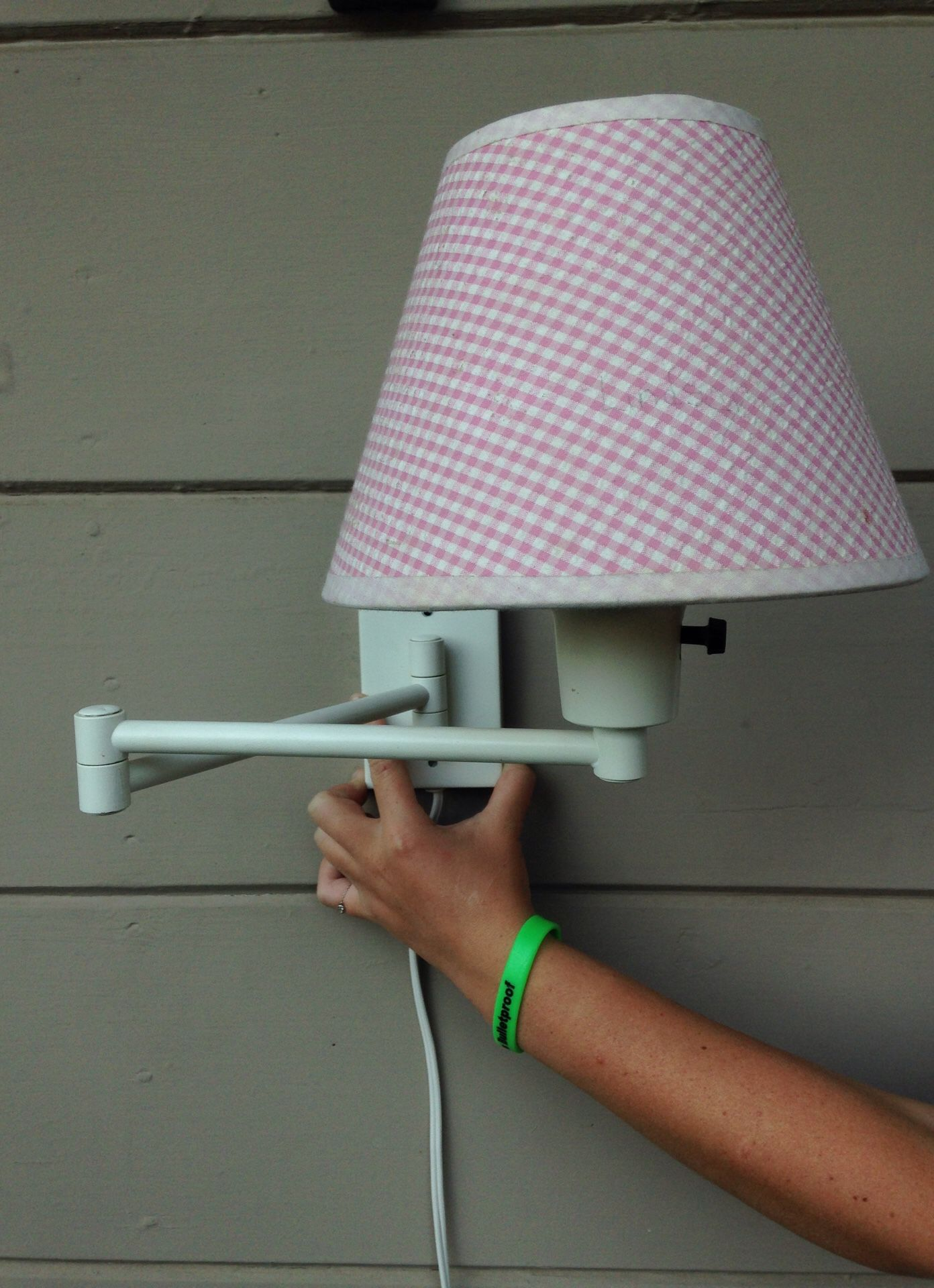 TWO Pottery Barn Kids swing arm lamps.