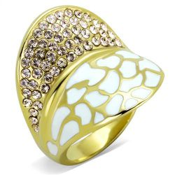 Plating Stainless Steel Ring Top GRD Crystal Clear SZ 7 TK1851-7 Thumbnail