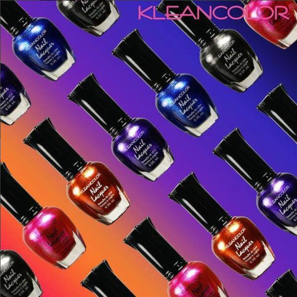 Kleancolor metallic nail polish set of 12 full size lacquer bottles ...