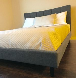 New Gray Modern Queen Bed for Sale in Chevy Chase, DC
