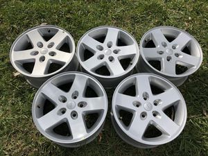 "JEEP Wrangler 2017 stock aluminum 17"" rims for Sale in Miami, FL"