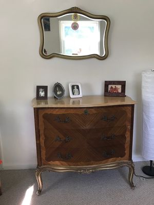 Antique marble top dresser with mirror for Sale in Bethesda, MD